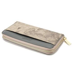 PRIMA CLASSE(プリマクラッセ)P-7504 切り替えデザインのラウンドジップ長財布 (グレイ)