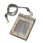 PRIMA CLASSE(プリマクラッセ)P-7705 ネックストラップ付ICカードケース(8ポケット+お札入れ) (グレイ)