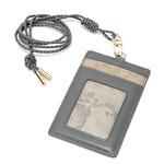 PRIMA CLASSE(プリマクラッセ)P-7704 ネックストラップ付ICカードケース(4ポケット) (グレイ)