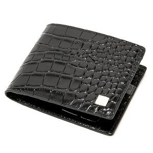 PRIMA CLASSE(プリマクラッセ)PSW9-2138 クロコ型押しレザー二つ折り財布 (ブラック)