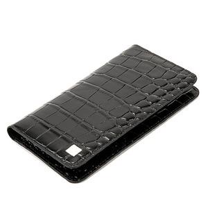 PRIMA CLASSE(プリマクラッセ)PSW9-2142 クロコ型押しレザー長財布 (ブラック)