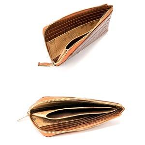 PRIMA CLASSE(プリマクラッセ)PSW9-2139 クロコ型押しレザーラウンドジップ長財布(ブラウン)