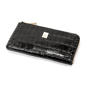 PRIMA CLASSE(プリマクラッセ)PSW9-2139 クロコ型押しレザーラウンドジップ長財布(ブラック) - 拡大画像