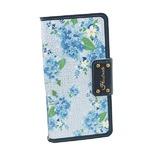 MrH(ミスターエイチ)スマホウォレットケース/ノーズゲイVol.2 ネイビーガーデン (iphone8plus)