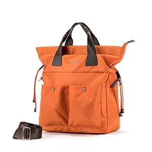 PRIMA CLASSE(プリマクラッセ) 19H-1205 たっぷり入る軽量ポリ縦型素材2WAYバッグ/オレンジ - 拡大画像
