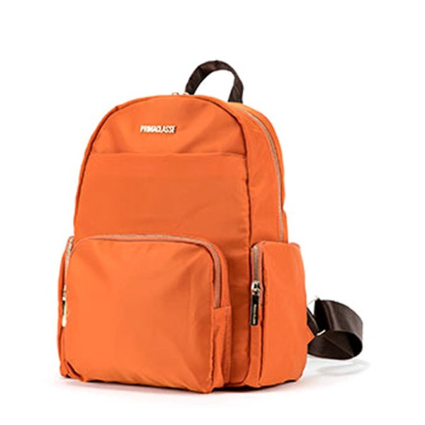 PRIMA CLASSE(プリマクラッセ) 19H-1204 軽量ポリ素材ポケット付ユニセックスリュック (オレンジ)