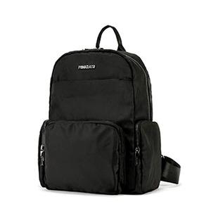 PRIMA CLASSE(プリマクラッセ) 19H-1204 軽量ポリ素材ポケット付ユニセックスリュック (ブラック) - 拡大画像