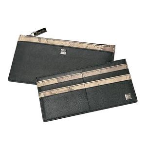 PRIMA CLASSE(プリマクラッセ)カードポケット出し入れ可能スリムなジップ長財布/グレイ - 拡大画像