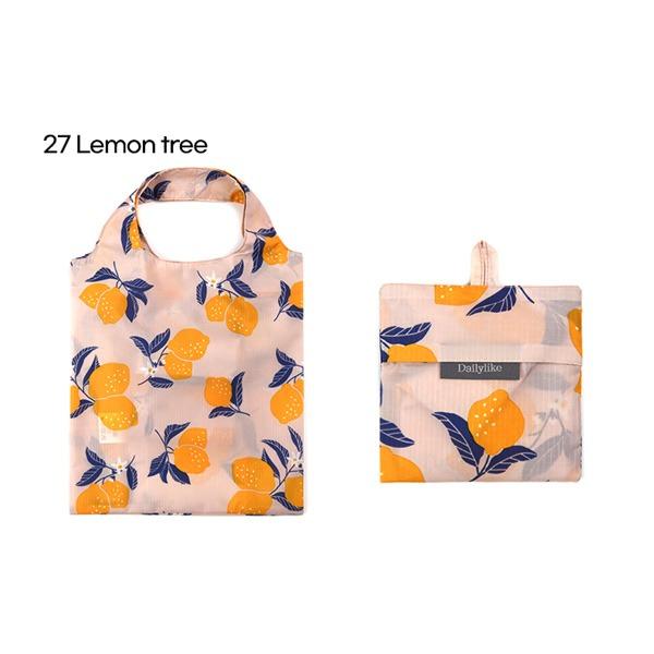 Dailylike(デイリーライク)ポケットエコバッグS/レモンツリー