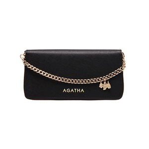 AGATHA(アガタ) AGT194-310 本革仕様 持ち手チェーン付ラウンドジップ長財布/ブラック - 拡大画像
