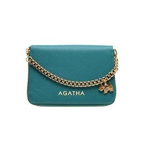 AGATHA(アガタ) AGT194-311 本革仕様 持ち手チェーン付ラウンドジップカードケース/ブルー - 拡大画像