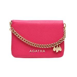 AGATHA(アガタ) AGT194-311 本革仕様 持ち手チェーン付ラウンドジップカードケース/ピンク - 拡大画像