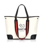 AGATHA(アガタ)AGTH131-07H 持ち手が選べる上品仕様のパイピン付キャンバストートバッグ/アイボリー