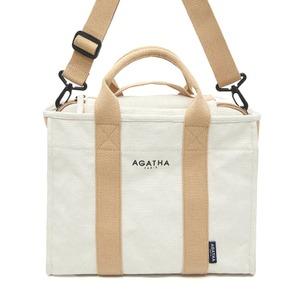 AGATHA(アガタ)AGT202-522 ショルダーストラップ付キャンバストートバッグ - 拡大画像