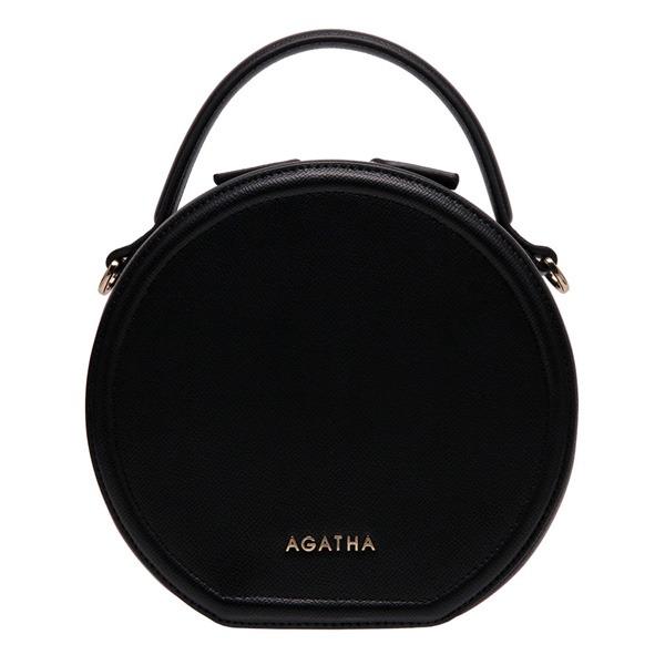 AGATHA(アガタ)AGT201-122 シグネチャータンバリン丸形ショルダーバッグ/ブラック