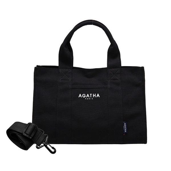 AGATHA(アガタ)AGT192-509 スクエアタンブラーエコトートバッグ/ブラックAタイプ