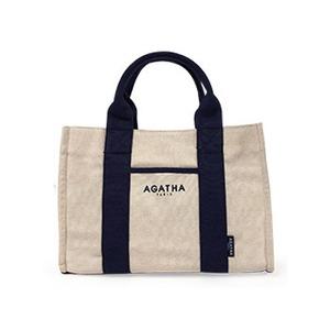 AGATHA(アガタ)AGT192-509 スクエアタンブラーエコトートバッグ/ネイビー - 拡大画像
