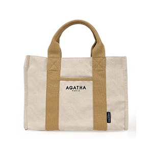 AGATHA(アガタ)AGT192-509 スクエアタンブラーエコトートバッグL/ベージュ - 拡大画像