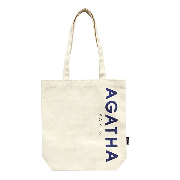 AGATHA(アガタ)AGTH002 ロゴ入りエコトートバッグB/ネイビー