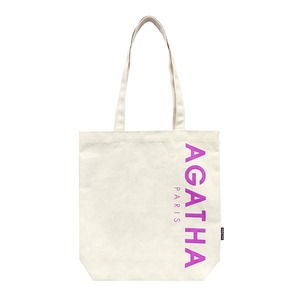 AGATHA(アガタ)AGTH002 ロゴ入りエコトートバッグB/パープル - 拡大画像