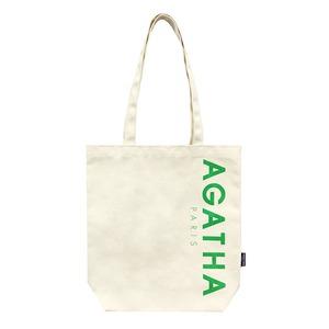 AGATHA(アガタ)AGTH002 ロゴ入りエコトートバッグB/グリーン - 拡大画像