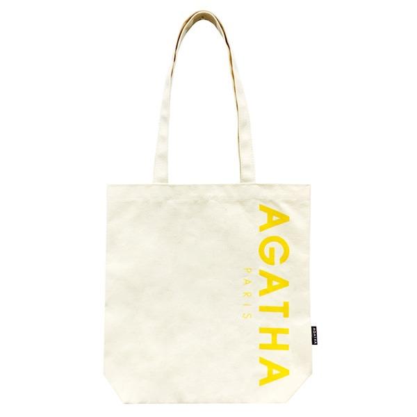 AGATHA(アガタ)AGTH002 ロゴ入りエコトートバッグB/イエロー