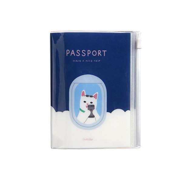 Dailylike(デイリーライク)ポケットパスポートケース/ハッピーキャット