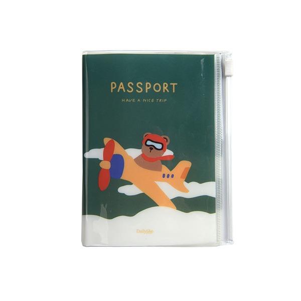 Dailylike(デイリーライク)ポケットパスポートケース/パイロットベア