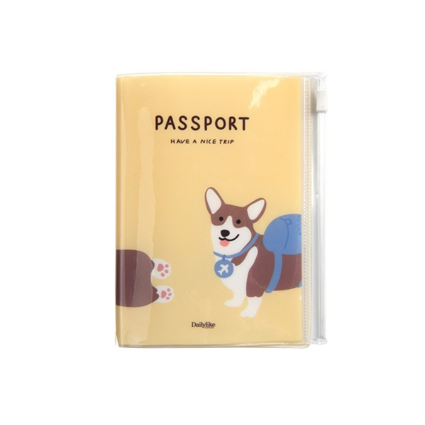Dailylike(デイリーライク)ポケットパスポートケース/バックパックコーギー