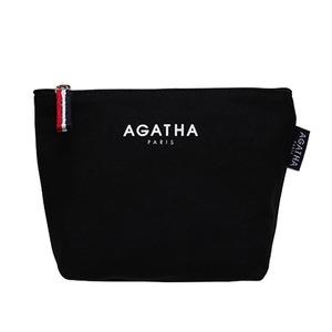 AGATHA(アガタ)AGT202-005 キャンバスロゴポーチ/ブラック - 拡大画像
