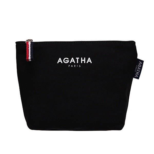 AGATHA(アガタ)AGT202-005 キャンバスロゴポーチ/ブラック