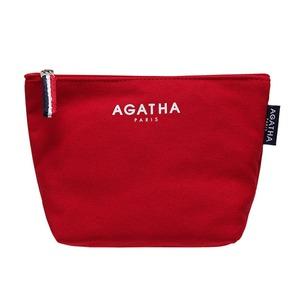 AGATHA(アガタ)AGT202-005 キャンバスロゴポーチ/レッド - 拡大画像