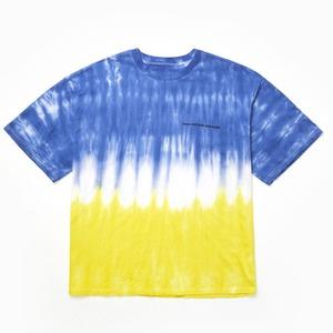 hour minute seconds(アワーミニッツセカンズ)ロゴTシャツ/ブルー&イエロー - 拡大画像