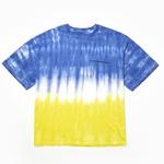 hour minute seconds(アワーミニッツセカンズ)ロゴTシャツ/ブルー&イエロー