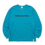 thisisneverthat(ディスイズネバーザット)シンプルロゴL/SLロングTシャツTN2570/ブルーグリーン XL
