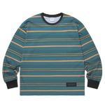 thisisneverthat(ディスイズネバーザット)ストライププリントロングTシャツTN20F0197/#1グリーン×イエロー L