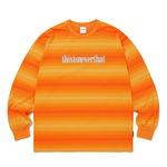 thisisneverthat(ディスイズネバーザット)オニキスストライプLロングTシャツTN20F0113/オレンジ M