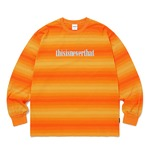 thisisneverthat(ディスイズネバーザット)オニキスストライプLロングTシャツTN20F0113/オレンジ XL