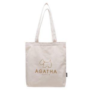 AGATHA(アガタ)AGT202-519 キャンバス地シンプルエコトートバッグB/ベージュ - 拡大画像