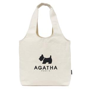 AGATHA(アガタ)AGT192-512 かご型エコバッグ(ナチュラル)/ブラック - 拡大画像