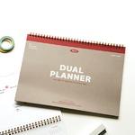 Dailylike(デイリーライク) 2021年日付入りデュアルプランナー(2020年11月から使用可能)