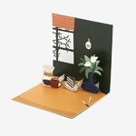 Dailylike(デイリーライク) ポップアップカード同柄2枚セット/テーブル