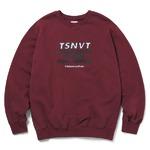 thisisneverthat(ディスイズネバーザット)TSNVTクルーネックトレーナーTNFSW012/バーガンディ M
