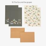 Dailylike(デイリーライク) レターセット(レター用紙4枚、封筒2枚)同柄2個セット/フォックス&グレープ