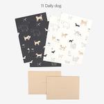 Dailylike(デイリーライク) レターセット(レター用紙4枚、封筒2枚)同柄2個セット/デイリードッグ
