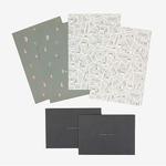 Dailylike(デイリーライク) レターセット(レター用紙4枚、封筒2枚)同柄2個セット/キャンピングマップ