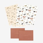 Dailylike(デイリーライク) レターセット(レター用紙4枚、封筒2枚)同柄2個セット/プレイウィズミー