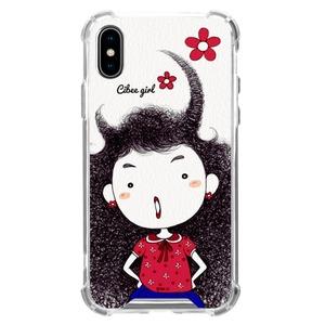 MrH(ミスターエイチ)スマホ スキンジェルケース/シビーガールレッド iphoneXS MAX - 拡大画像