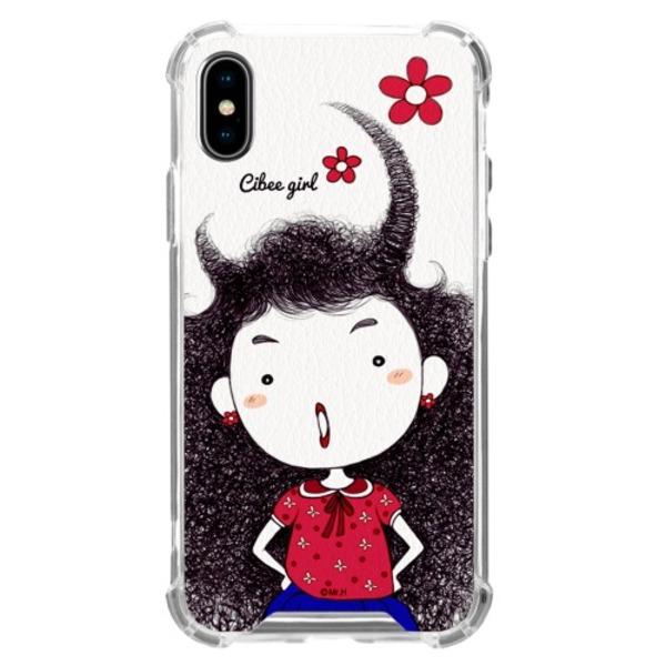 MrH(ミスターエイチ)スマホ スキンジェルケース/シビーガールレッド iphone8plus