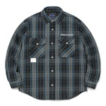 thisisneverthat(ディスイズネバーザット)TN20FSH002 中綿入りフランネルシャツ/ブルー×グレイ S